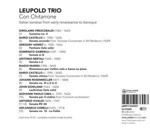 Con Chitarrone-Italian sonatas from early renais