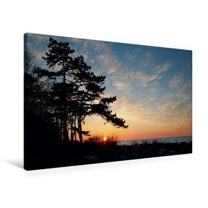 Premium Textil-Leinwand 90 cm x 60 cm quer Sonnenuntergang im Fr