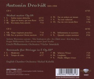 DVORAK: Stabat Mater/Serenade for Strings
