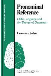 Pronominal Reference