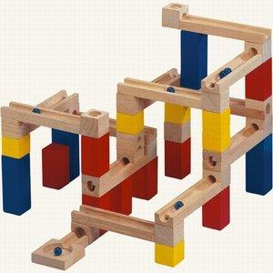 Bino 82070 - Kugelbahn aus Holz, 33 Teile