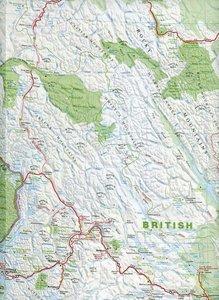 Alberta / British Columbia 1 : 2 000 000. Straßenkarte