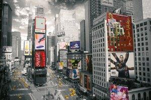 Blick auf den Times Square. Puzzle 500 Teile