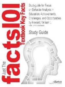 Studyguide for Focus on Behavior Analysis in Education