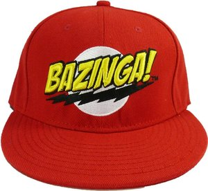 The Big Bang Theory - Kappe - Logo BAZINGA, rot
