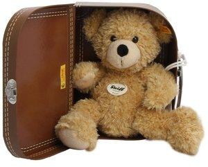 Steiff 111471 - Fynn Teddybär im Koffer, beige, 28cm