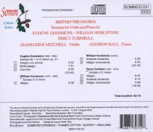 Violin Sonatas/British Treasures - zum Schließen ins Bild klicken