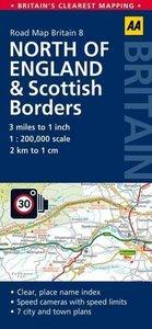 Road Map Britain 08 North of England & Scottish Borders 1 : 200
