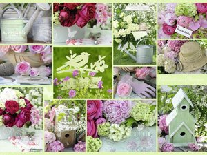 Shabby Chic Garden. Puzzle 1500 Teile