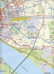 Riga & Latvia Map 1 : 8 000 / 1 : 460 000