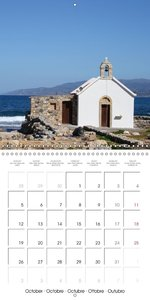 Crete and the Mediterranean Sea (Wall Calendar 2015 300 × 300 mm