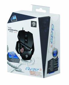 R.A.T. 3 Gaming Maus, PC und MAC, matt-schwarz