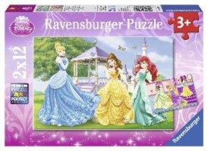 Prinzessinnen im Garten und im Schloss. Puzzle 2 X 12 Teile