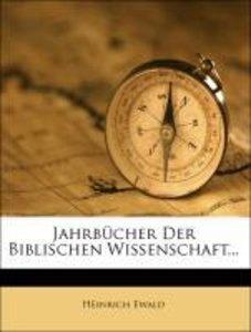 Jahrbücher der Biblischen Wissenschaft, Neuntes Jahrbuch