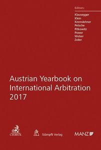 Austrian Yearbook on International Arbitration 2017