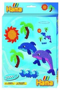Hama 3426 - Geschenkpackung Delfin Mobile, zwei Stiftplatten mit