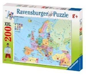 Politische Europakarte. XXL Puzzle (200 Teile)