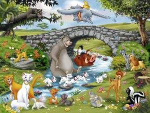 Die Familie der Animal Friends. Puzzle 100 Teile XXL