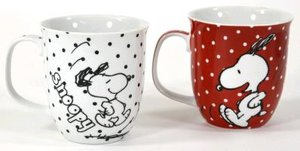United Labels 0109513 - Peanuts: Tasse, 2er Set Pünktchen