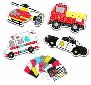My First Sticky Mosaics: Team Rescue Vehicles