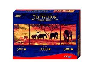Tript. Puzzle 2000tlg. Elefantenkarawane