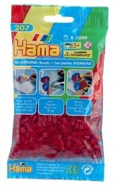 Hama 207-22 - Perlen mittelrot, 1000 Stück - zum Schließen ins Bild klicken
