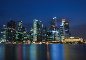 Singapore - In the Colours of the Night (Poster Book DIN A3 Land
