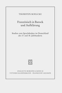 Französisch in Barock und Aufklärung