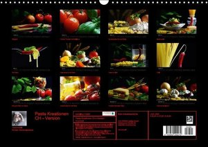 Pasta KreationenCH-Version (Wandkalender 2016 DIN A3 quer)