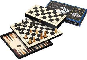 Philos 2511 - Reise-Schach-Backgammon-Dame-Set