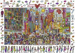 James Rizzi: Times Square. Puzzle 1000 Teile