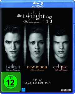 Die Twilight Saga 1-3-Was bis(s)her ge (Blu-ray)