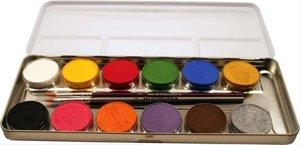 Corvus A190612 - Eulenspiegel: Schminke, 12 Farben inkl. 2 Pinse