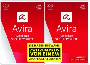 Avira Internet Security Suite 2015 - 1+1 Special
