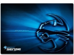 ROCCAT Gaming Mauspad Sense 2mm High Precision, chrome blue