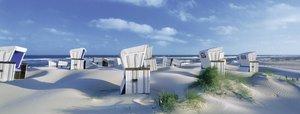 Strandkörbe auf Sylt. Puzzle 1000 Teile