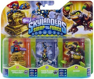 Skylanders Swap Force: Triple Pack D (HEAVY DUTY SPROCKET, TWIN