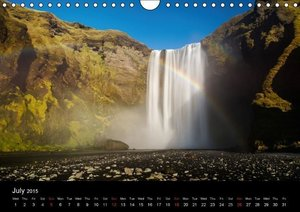 Iceland 63° 66° N (Wall Calendar 2015 DIN A4 Landscape)