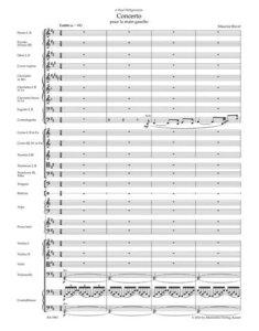 Konzert für die linke Hand für Klavier u. Orchester