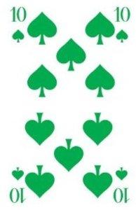 Klassisches Skatspiel, Offizielle Turnierkarte des DSkV, 32 Kart
