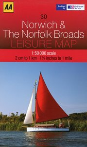 Leisure Map WK 30 Norwich 1 : 50 000