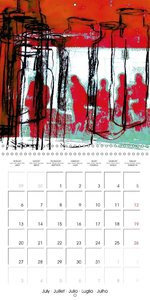 people - digital abstract art (Wall Calendar 2015 300 × 300 mm S