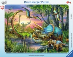 Ravensburger 06633 - Friedliche Dinosaurier, Puzzle, 45 Teile
