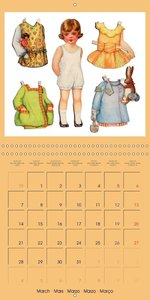 CHARMING OLD PAPER DOLLS (Wall Calendar 2016 300 × 300 mm Square