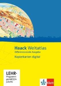 Haack Weltatlas Differenzierende Ausgabe. Kopierkarten digital.
