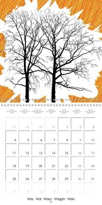 Tree art - the art of trees (Wall Calendar 2015 300 × 300 mm Squ