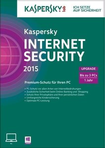 Kaspersky Internet Security 2015 3 Lizenzen Upgrade (FFP)