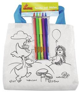 Der kleine Drache Kokosnuss - Stofftasche zum Ausmalen