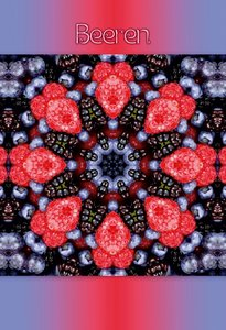 Premium Textil-Leinwand 50 cm x 75 cm hoch Beeren Mandala