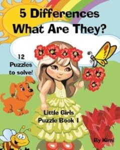 5 Differences - What Are They? Little Girls - Puzzle Book 1